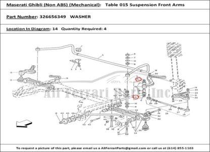 Maserati Biturbo washer sluitring wielophanging voorzijde 326656349