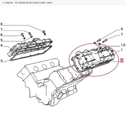Lancia Thema 2.8 V6 klepdekselpakking 9400249649 origineel