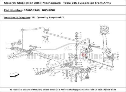 Maserati Biturbo Bushing bus wielophanging voorzijde 326656348