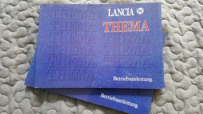 Lancia Thema Betriebsanleitung Duitse taal serie 1 nette, gebruikte staat