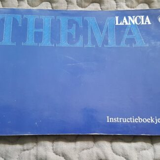 Lancia Thema instructieboekje serie 2 nette, gebruikte staat