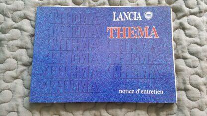 Lancia Thema notice déntretien Franse traal serie 2 gebruikte staat
